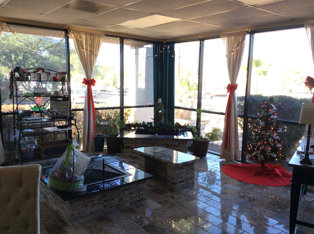 A & E Recycled Granite Holiday Showroom in Arizona