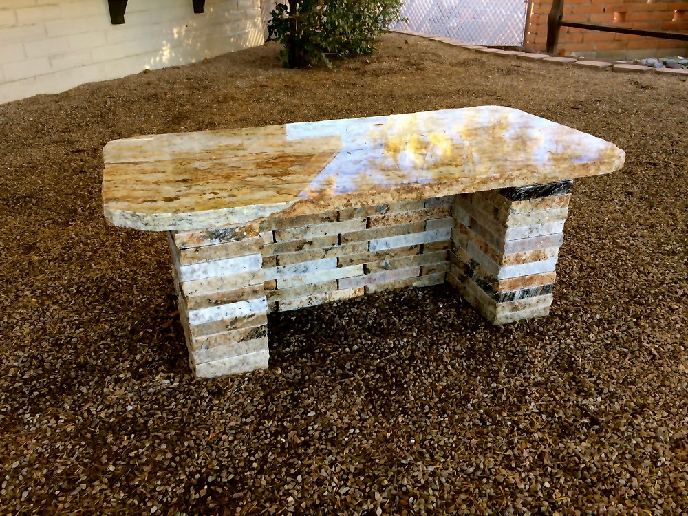 Recycled Granite Bench