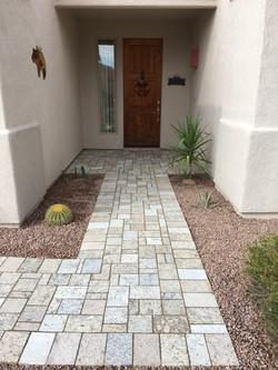 Stone Sidewalk & Entry