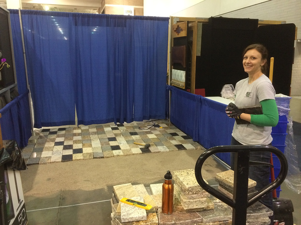 A&E Recycled Granite Home Show Booth
