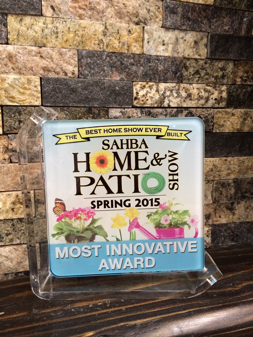 A&E Recycled Granite won the Most Innovative Award Spring 2015