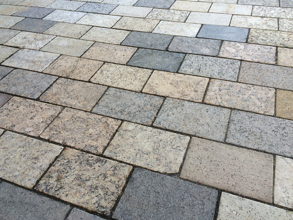 A & E Recycled Granite Pavers at Gibson Court