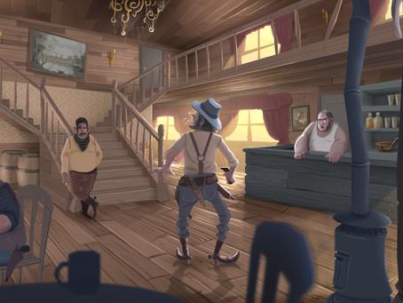 Ilustración de fondo con personajes en diferentes temperaturas