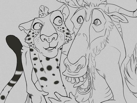 Nueva ilustración para el día de los animales en CLAN (en proceso)