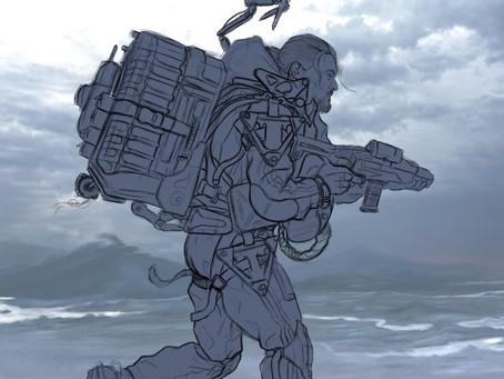 """Nueva ilustración terminada. Un """"FanArt"""" del esperado videojuego Death Stranding de Hideo Kojima."""