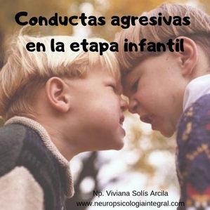 CONDUCTAS AGRESIVAS EN LA ETAPA INFANTIL