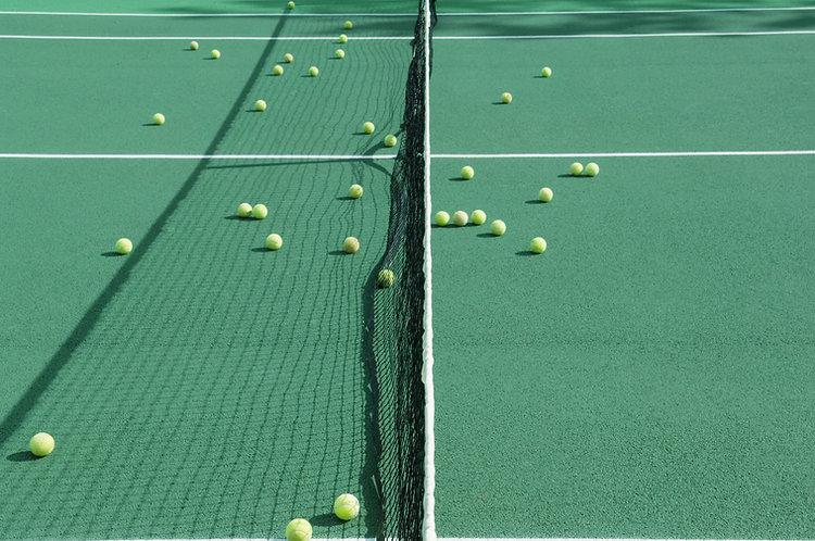 Tennis üben