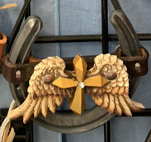 Gold Cross Horseshoe