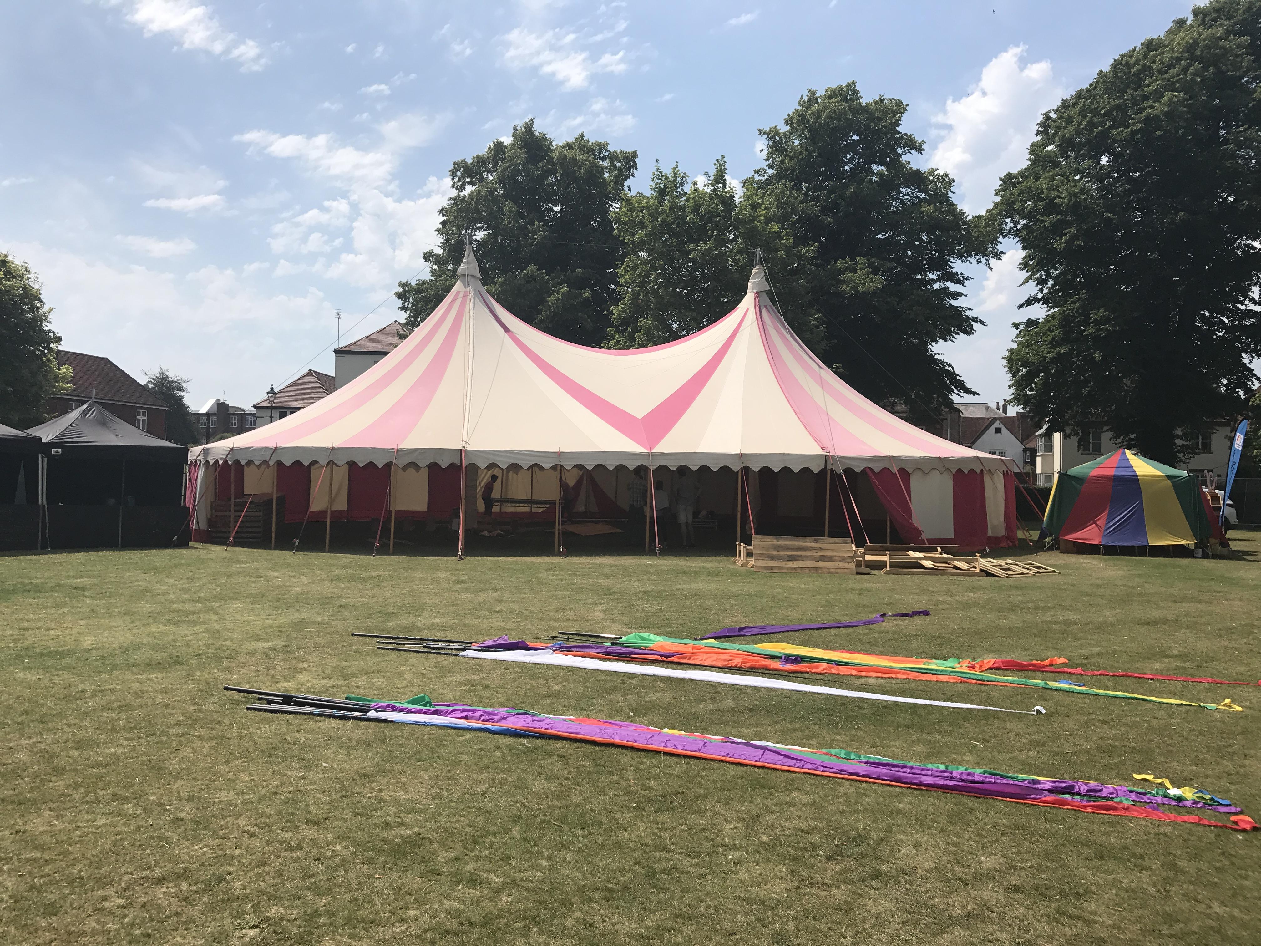 Priory Park Festival Setup