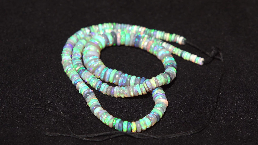 Crystal Opal Facet Necklace