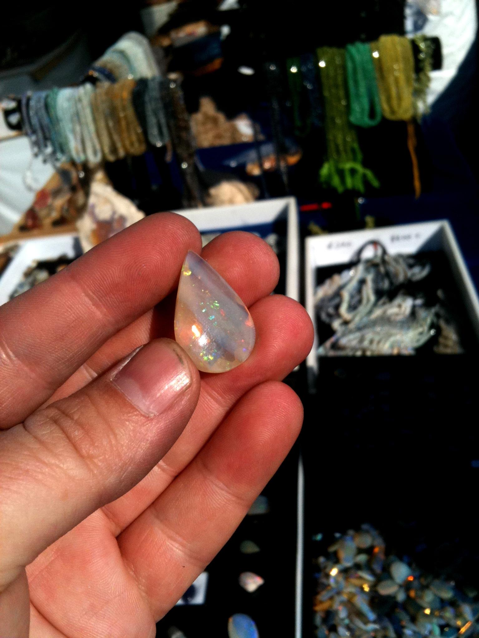 Andamooka Crystal Facet Opal