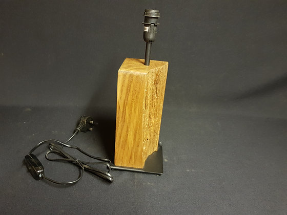 Rustic Table Lamp - Re-claimed English Oak