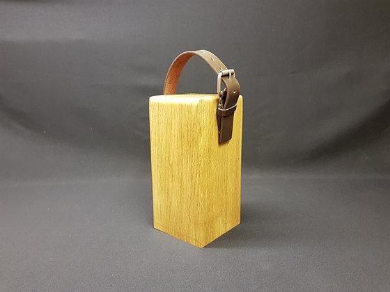 Door Stop - Brown Leather & Buckle