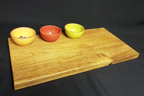 Antipasti Serving Tray-Contemporary-3 Tapas Bowls