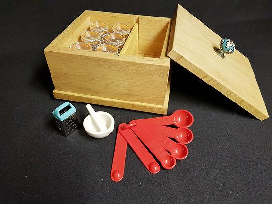 Spice/Herb Caddy & 6 Glass Clip Jars Kit