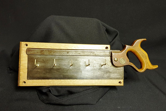 Tenon Saw - 5 Hook Key Rack - Reclaimed