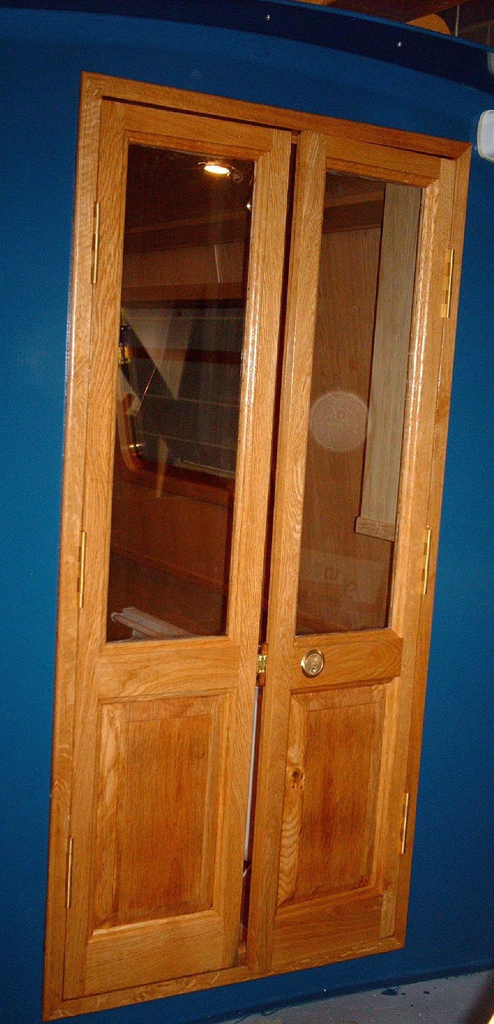 EXTERIOR DOOR - FRONT - OAK.JPG & Tallboy\u0027s Woodworking| Narrowboat Doors and Cratch| Derbyshire