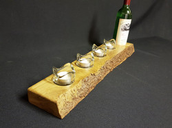 Wine Centre Piece with Tealight Holders