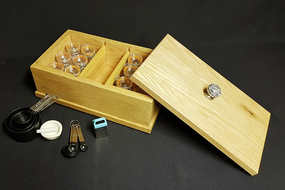 Spice/Herb Caddy & 12 Glass Clip Jars Kit
