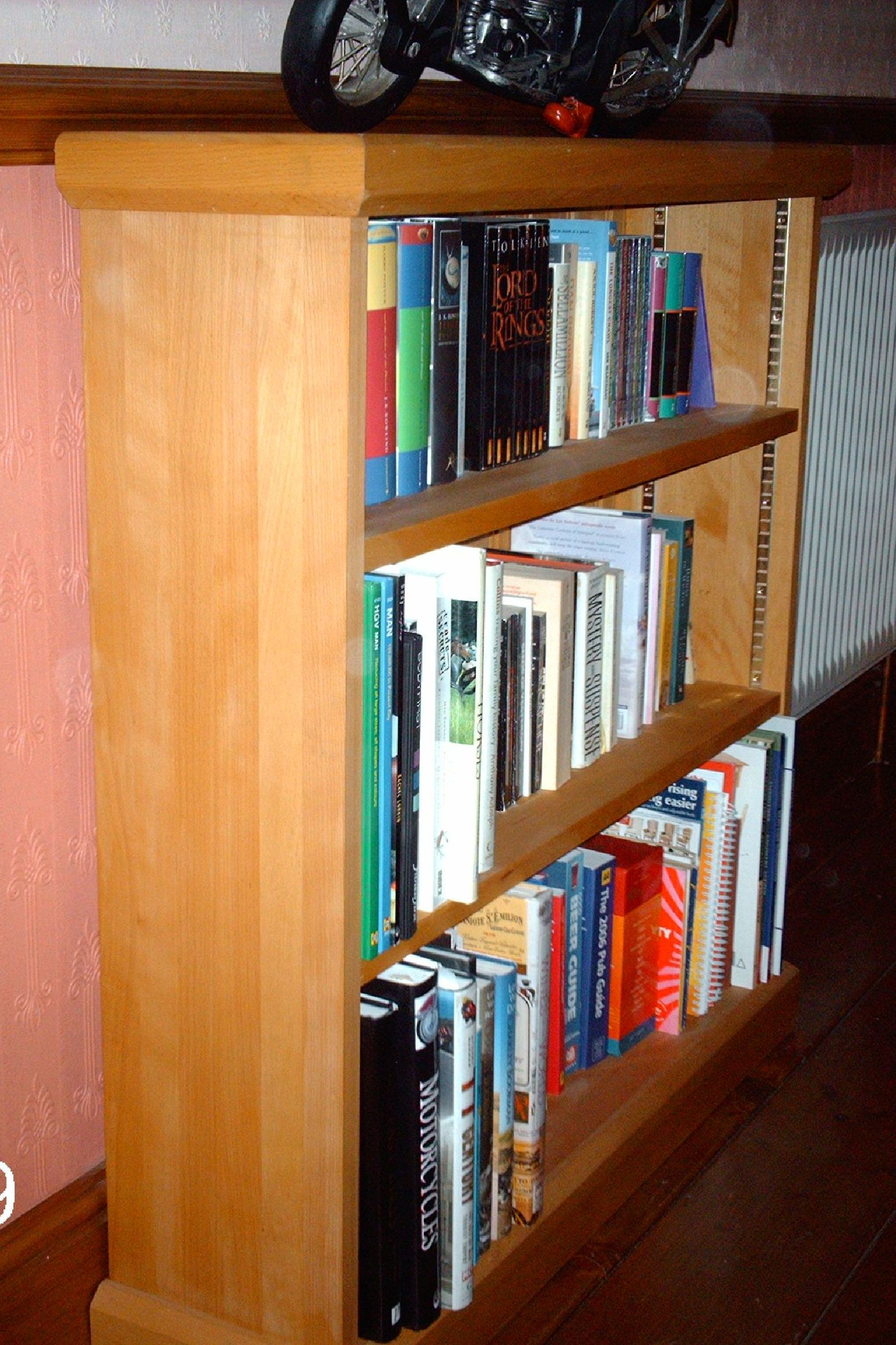 BOOKCASE - ADJUSTABLE SHELVING - BEECH.JPG