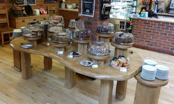 SHOP DISPLAY TABLE & STANDS WITH CAKES.jpg