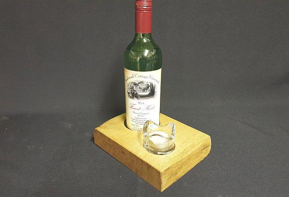 WIne Holder & Tealight Table Centrepiece - Oak