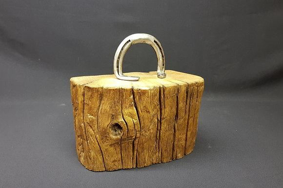 Horseshoe Door Stop - Re-claimed English Oak