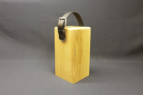Door Stop - Black Leather & Buckle