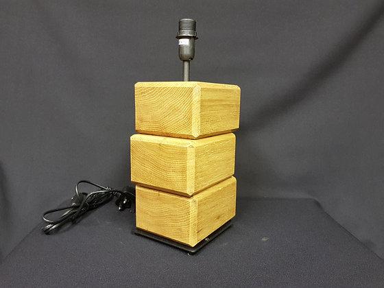 Block Table Lamp - English Oak