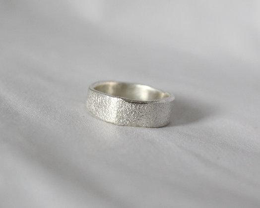 Organisch gevormde 925 sterling zilveren ring