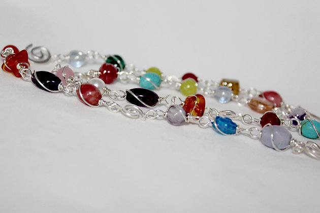 Multi colour gemstone necklace