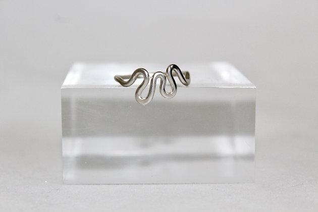 Sterling zilveren 'waves' ring
