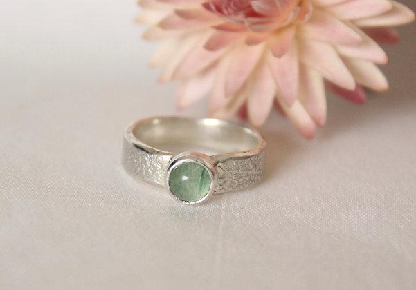 Sterling zilveren ring met aventurijn