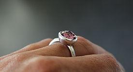 Alice Silver Designs Pink Swarovski Ring