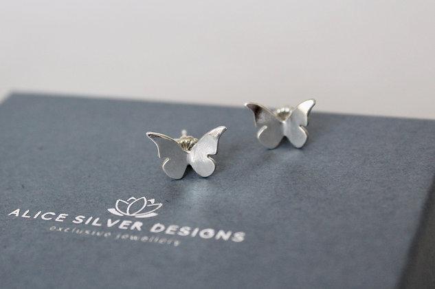Sterling zilveren vlinder stekertjes