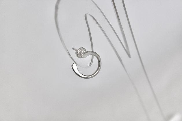 Sterling zilveren curve stekers