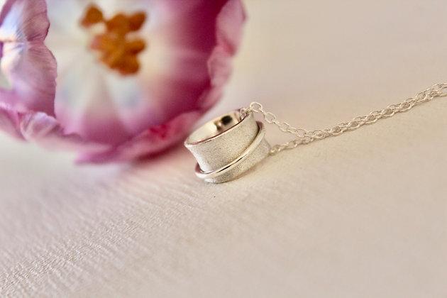 Zilveren babyspinner