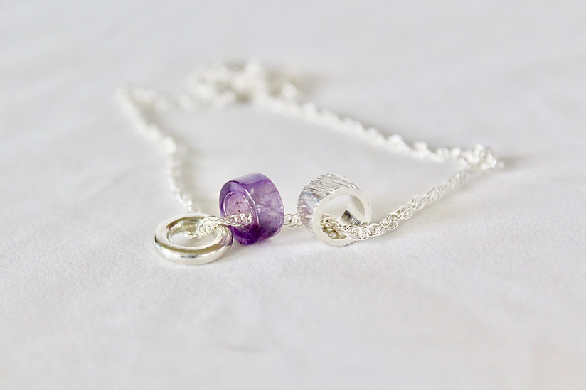 Alice Silver designs amethyst gemstone p