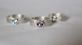 Alice Silver designs sterling silver gem