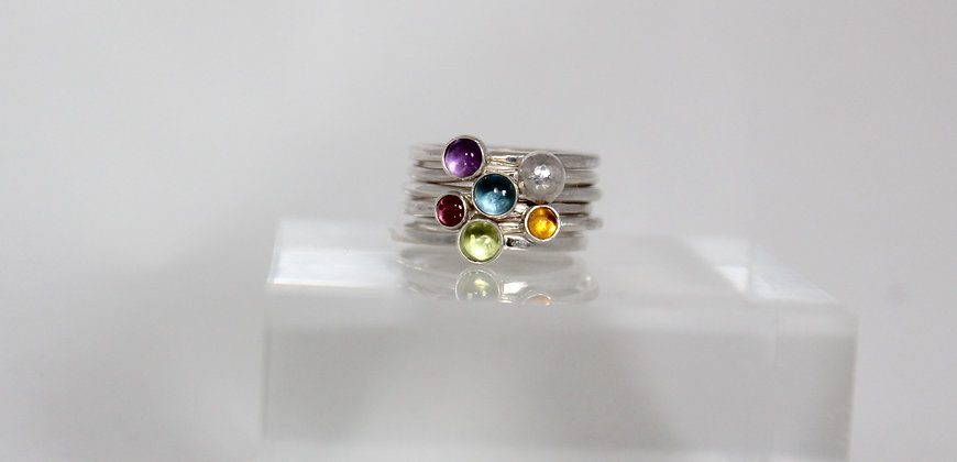 Colourful stacking rings