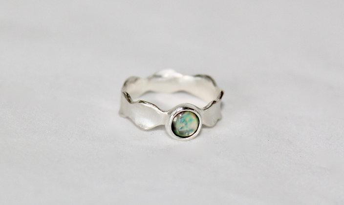 Sterling zilveren ring met Nieuw Zeelands Paua schelp