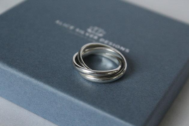 Sterling zilveren Russische ring