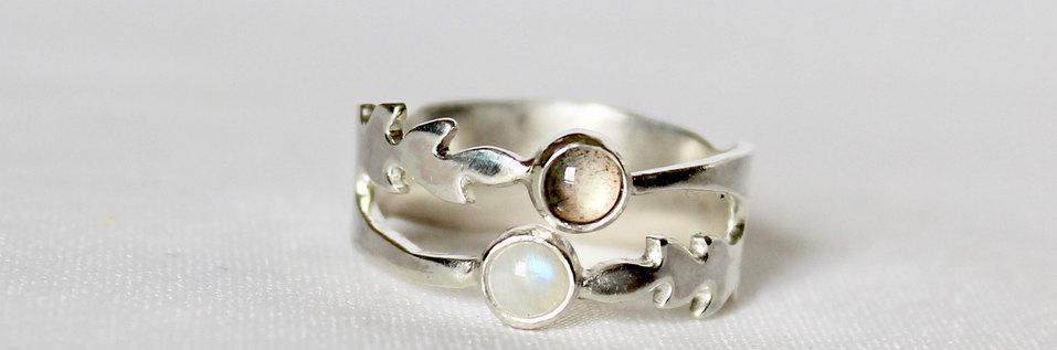 Uitvoering zilveren olijftak ring