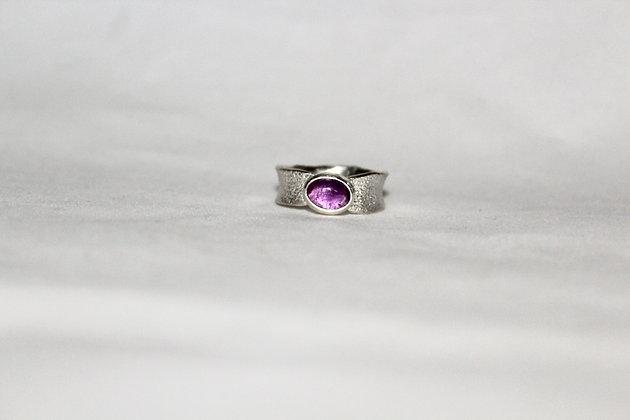 925 sterling silver freeform ring