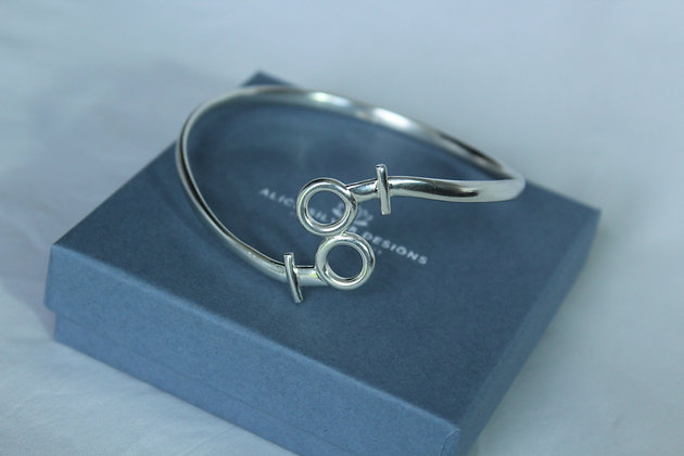 Sterling silver couple bangle