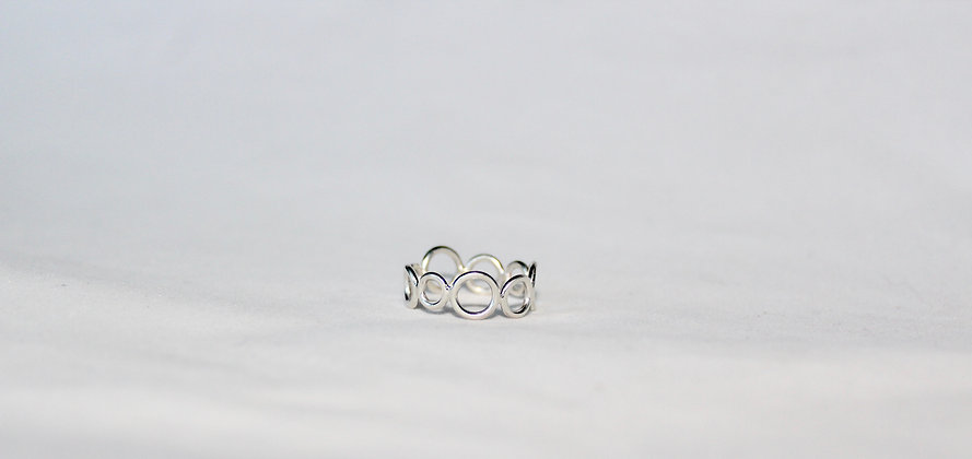 925 Sterling silver bubble ring