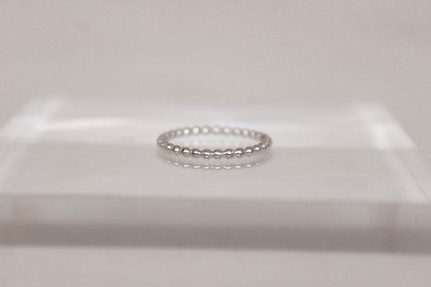 Sterling zilveren pareltjes stacking ring