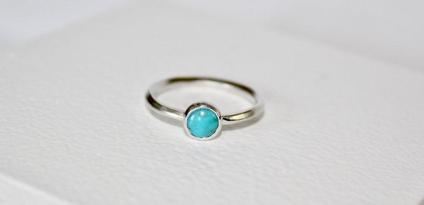 925 sterling zilveren ring met turqoise