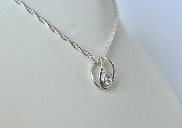 Sterling zilveren hanger met gefacetteerd Swarovski® kristal