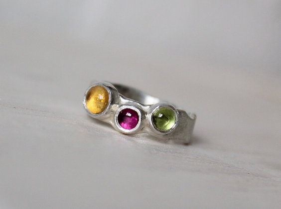 Zomerse edelsteen ring